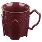 Dinex DX500061 Fenwick 8 oz. Cranberry Insulated Mug - 48/Case