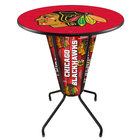 "Holland Bar Stool L218B42ChiHwk36RChiHwk-R Chicago Blackhawks 36"" Round Bar Height LED Pub Table"