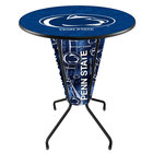 Holland Bar Stool L218B42PennSt36RPennSt Penn State University 36 inch Round Bar Height LED Pub Table