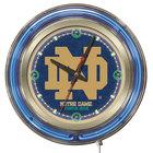 Holland Bar Stool Clk15ND-ND University of Notre Dame 15 inch Neon Clock