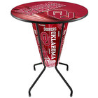 Holland Bar Stool L218B42Oklhma36ROklhma-D2 University of Oklahoma 36 inch Round Bar Height LED Pub Table