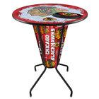 "Holland Bar Stool L218B42ChiHwk36RchiHwk-R-D2 Chicago Blackhawks 36"" Round Bar Height LED Pub Table"