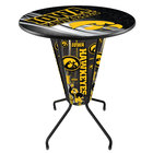 Holland Bar Stool L218B42IowaUn36RIowaUn-D2 University of Iowa 36 inch Round Bar Height LED Pub Table