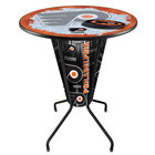 Holland Bar Stool L218B42PhiFly36RPhiFly-O-D2 Philadelphia Flyers 36 inch Round Bar Height LED Pub Table
