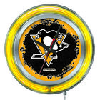 Holland Bar Stool Clk15PitPen Pittsburgh Penguins 15 inch Neon Clock