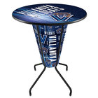 Holland Bar Stool L218B42Vilnva36RVilnva-D2 Villanova University 36 inch Round Bar Height LED Pub Table