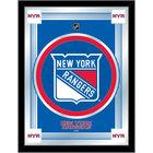 Holland Bar Stool MLogoNYRang 17 inch x 22 inch New York Rangers Decorative Logo Mirror