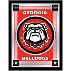 Holland Bar Stool MLogoGA-Dog 17 inch x 22 inch University of Georgia Decorative Logo Mirror