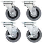 Swivel Plate Casters for US Range and Garland S and H Series Ranges - 4/Set