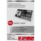 Swingline GBC 3202104 LongLife 2 9/16 inch x 3 1/2 inch ID Badge Thermal Laminating Pouch - 100/Box