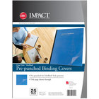 Swingline GBC 9743070 VeloBind 11 inch x 8 1/2 inch Clear Pre-Punched Binding System Cover - 25/Pack