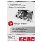 Swingline GBC 3202105 LongLife 2 1/2 inch x 4 1/5 inch ID Badge Thermal Laminating Pouch - 100/Box