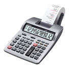 Casio HR100TM Portable 12-Digit Black / Red Two-Color Printing Calculator - 2 Lines Per Second