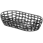 Tablecraft BC1709 Complexity Collection Black Powder Coated Metal Oblong Basket - 9 inch x 4 inch x 2 inch
