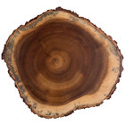 Tablecraft ACARD1212 12 inch Acacia Wood Round Serving Board