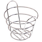 Clipper Mill by GET 4-22782 Wire Baskets Chrome Plated Metal Round Bucket Basket - 6 1/4 inch x 4 1/4 inch