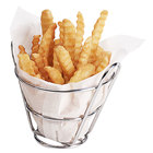 Clipper Mill by GET 4-22778 Wire Baskets Round Chrome Plated Metal Bucket Basket - 4 1/2 inch x 3 inch