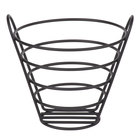 Clipper Mill by GET 4-33787-S 7 inch Black Powder Coated Iron Round Wire Bucket Basket