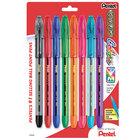 Pentel BK91CRBP8M R.S.V.P. Stick Assorted Ink with Assorted Barrel Color 1mm Ballpoint Pen - 8/Set