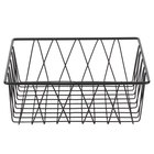 Clipper Mill by GET WB-105B Black Powder Coated Iron Square Wire Basket - 12 inch x 12 inch x 4 inch