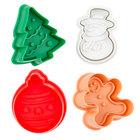 Ateco 1993 4-Piece Plastic Christmas Plunger Cutter Set