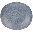 10 Strawberry Street BISEKI-8REC Biseki 8 1/4 inch x 7 inch Rectangular Blue Stoneware Salad Plate - 40/Case