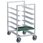 Channel T448A3 10 Tray Bottom Load Aluminum Trapezoidal Cafeteria Tray Rack - Assembled