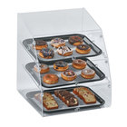 Vollrath LBC1418-3F-06 Large Classic 3 Tray Acrylic Bakery Display Case with Front Doors - 18 1/2 inch x 19 3/4 inch x 22 inch
