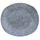 10 Strawberry Street BISEKI-1REC Biseki 10 1/4 inch x 9 inch Rectangular Blue Stoneware Dinner Plate - 24/Case