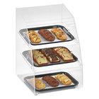 Vollrath MBC1014-3R-06 Medium Classic 3 Tray Acrylic Bakery Display Case with Split Rear Doors - 14 1/2 inch x 17 inch x 21 inch