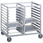 Channel 459A3 24 Tray Bottom Load Double Aluminum Cafeteria Tray Rack - Assembled