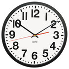 Universal UNV10450 13 inch Deluxe Large Number Black and White Wall Clock