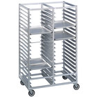 Channel 457A6 76 Tray Bottom Load Double Aluminum Cafeteria Tray Rack - Assembled