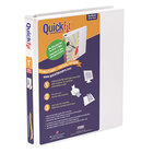 Stride 87010 QuickFit White View Binder with 1 inch Slant Rings