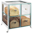 Cal-Mil 1586-74 Soho Four Drawer Silver Steel Bread Case - 14