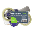 Universal UNV91002 2 inch x 60 Yards Heavy-Duty Box Sealing Tape with Dispenser - 2/Pack