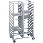 Channel 466A 60 Tray Bottom Load Double Aluminum Cafeteria Tray Rack - Assembled