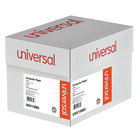 Universal UNV15865 11 inch x 14 7/8 inch White Case of 20# Perforated Continuous Print Computer Paper - 2400 Sheets