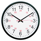 Universal UNV10441 12 5/8 inch Black 24-Hour Wall Clock