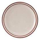 Tuxton TBS-005 Bahamas 5 1/2 inch Brown Speckle Narrow Rim China Plate - 36/Case