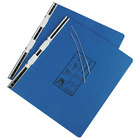 Universal UNV15442 11 inch x 14 7/8 inch Top Bound Hanging Data Post Binder - 6 inch Capacity with 2 Fasteners, Blue