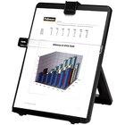 Fellowes 21106 10 1/8 inch x 7 3/8 inch x 11 1/4 inch Black 125 Sheet Non-Magnetic Plastic Desktop Copyholder