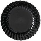 Fineline Flairware 207-BK 7 1/2 inch Black Plastic Plate - 18/Pack