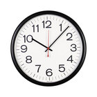Universal UNV11381 13 1/2 inch Black Indoor / Outdoor Clock