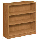 HON 1872C 1870 Series Harvest 3 Shelf Laminate Wood Bookcase 36