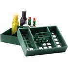 HS Inc. HS1046 7 inch x 10 inch Jalapeno Polyethylene 4 Bin Tabletop Condiment Organizer - 12/Case