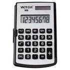 Victor 908 8-Digit LCD Solar Battery Powered Portable Pocket / Handheld Calculator