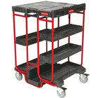 Rubbermaid FG9T5700BLA 31 1/2 inch x 27 inch Black Ladder Cart