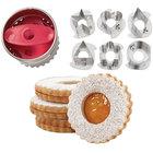 Wilton 2308-0112 7-Piece Metal Round Linzer Cookie Cutter Set
