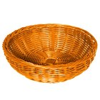 GET WB-1512-OR 11 1/2 inch x 3 1/2 inch Designer Polyweave Orange Round Basket - 12 / Case